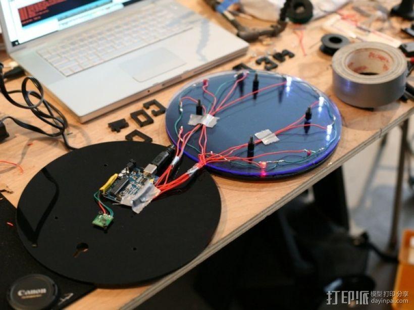 二进制时钟模型 3D打印模型渲染图