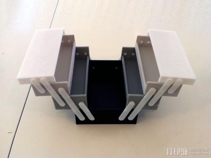 可折叠工具箱模型 3D打印模型渲染图