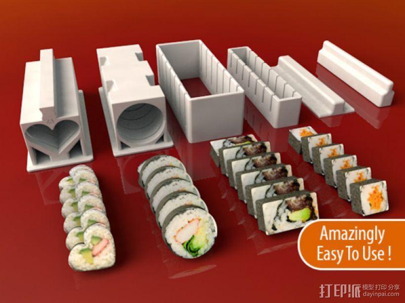 寿司模型套件 3D打印模型渲染图