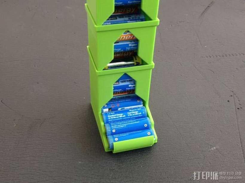 可伸展的电池盒模型 3D打印模型渲染图