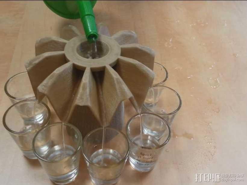 十面液体分发器模型 3D打印模型渲染图
