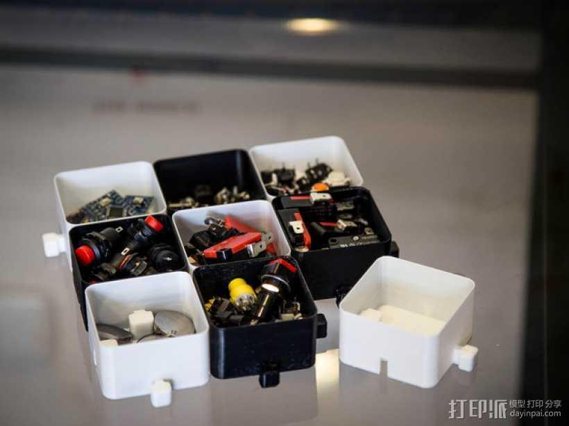 迷你联锁盒子模型 3D打印模型渲染图