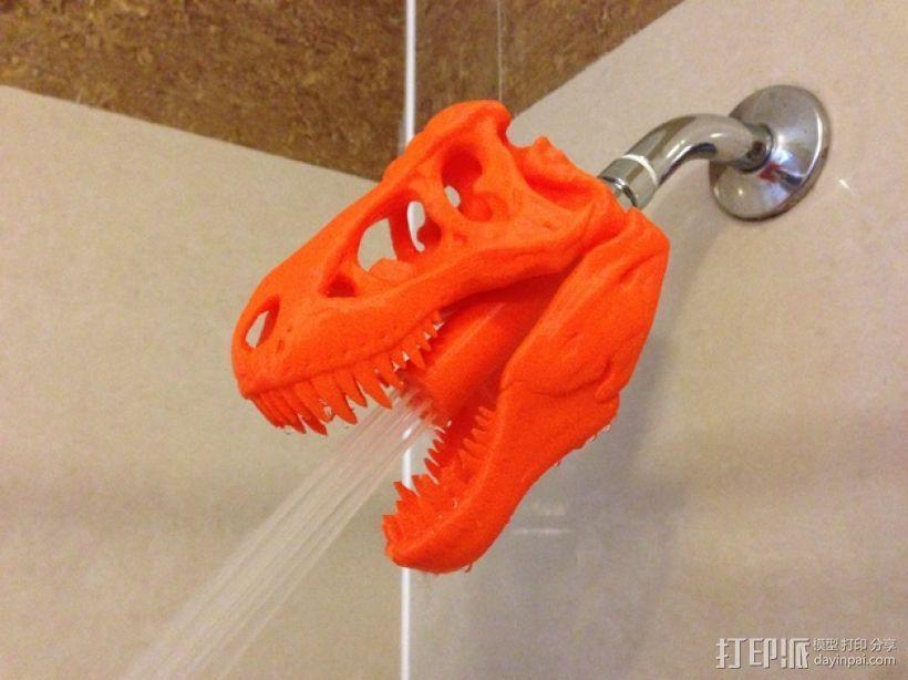 恐龙形淋浴喷头模型 3D打印模型渲染图