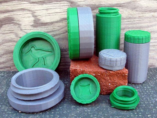 螺旋形收纳盒模型 3D打印模型渲染图
