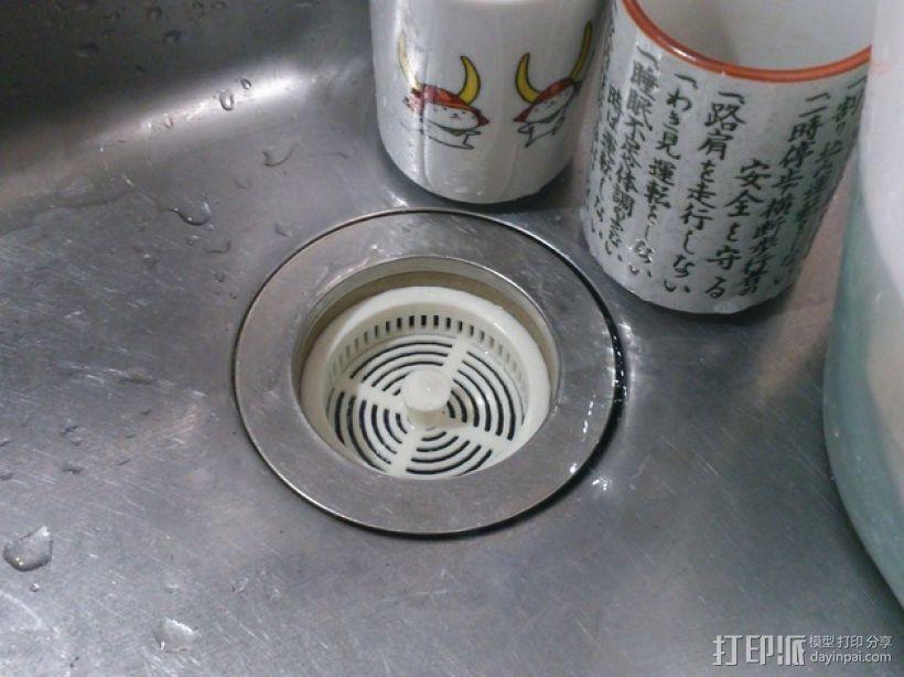 定制化厨房水槽过滤器 3D打印模型渲染图
