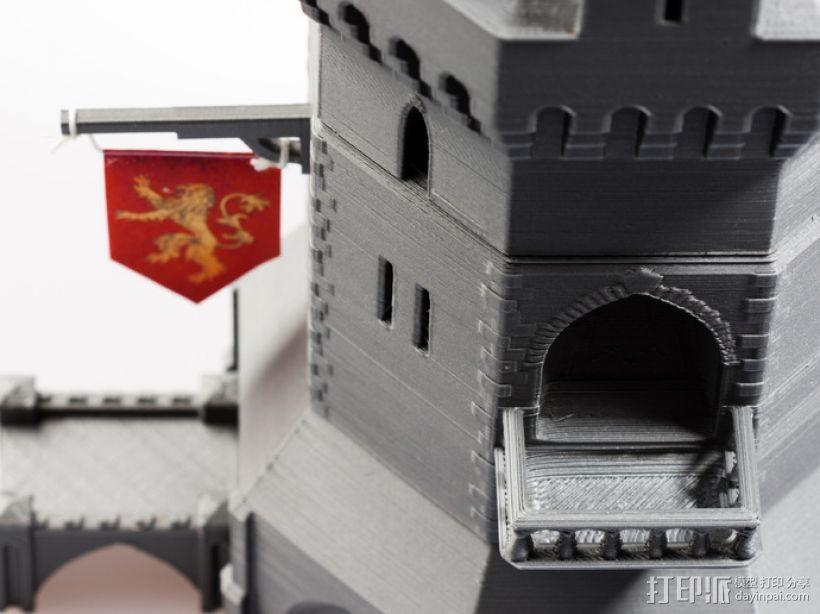 城堡形鸟笼模型 3D打印模型渲染图