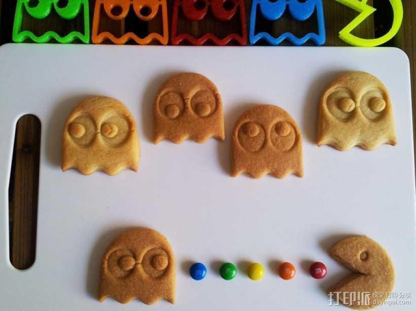 吃豆人饼干切割刀模型 3D打印模型渲染图