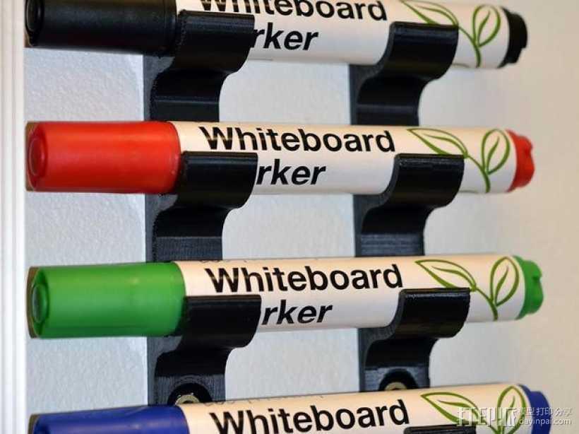 白板笔架模型 3D打印模型渲染图