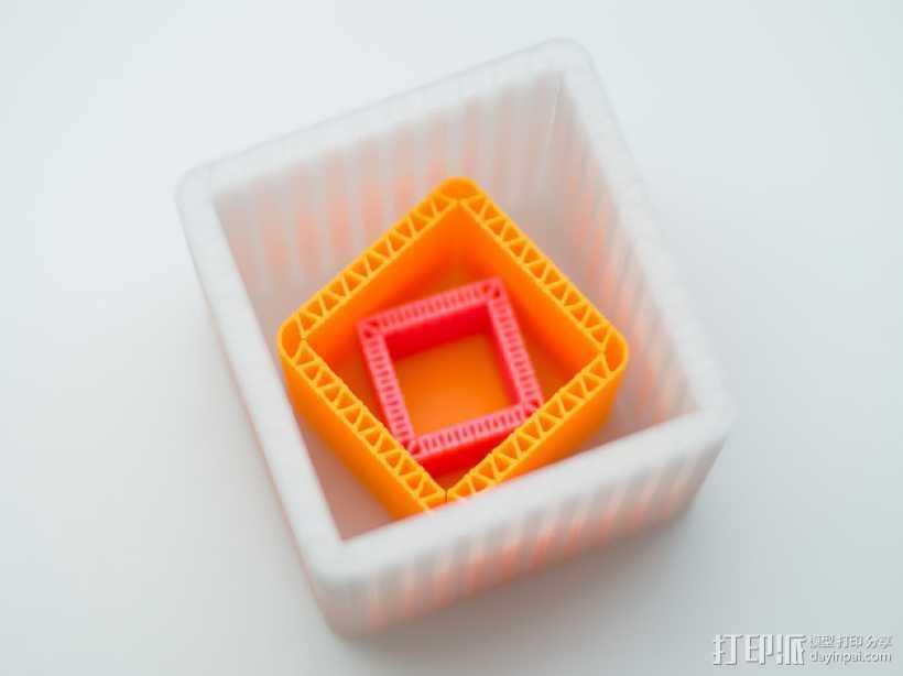 可定制化的瓦楞纸盒模型 3D打印模型渲染图