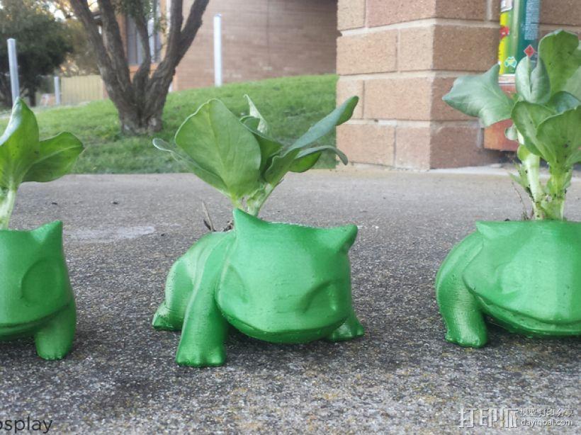 妙蛙种子花盆模型 3D打印模型渲染图