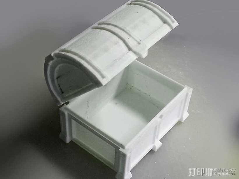 海盗宝藏箱模型 3D打印模型渲染图