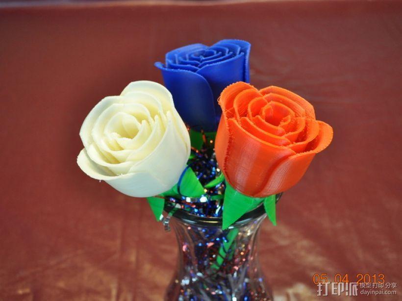 玫瑰花模型 3D打印模型渲染图