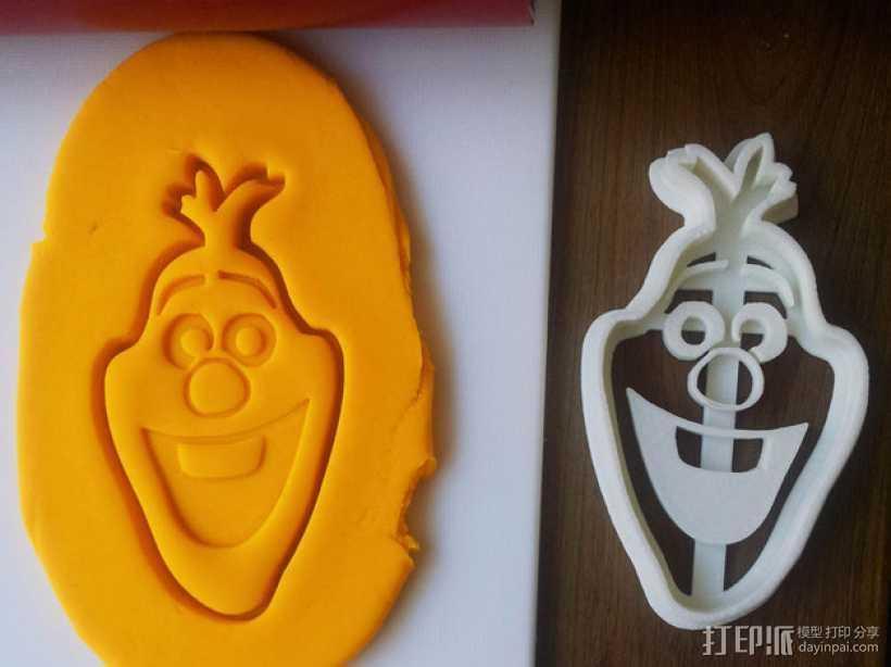 冰雪奇缘雪宝饼干模型切割刀 3D打印模型渲染图