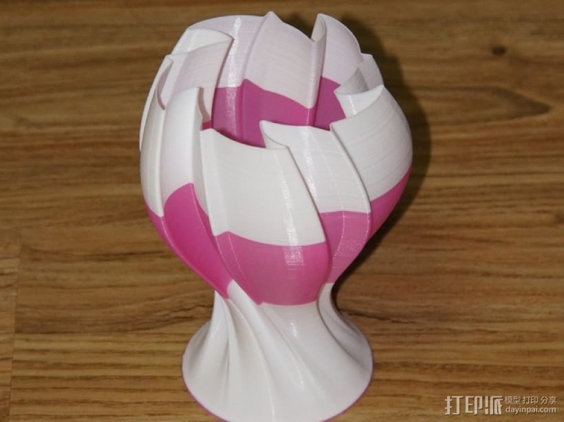 几何形花瓶模型 3D打印模型渲染图
