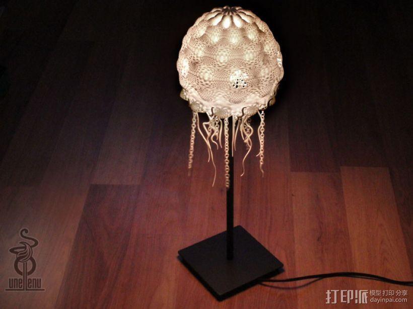 迷你水母灯罩模型 3D打印模型渲染图