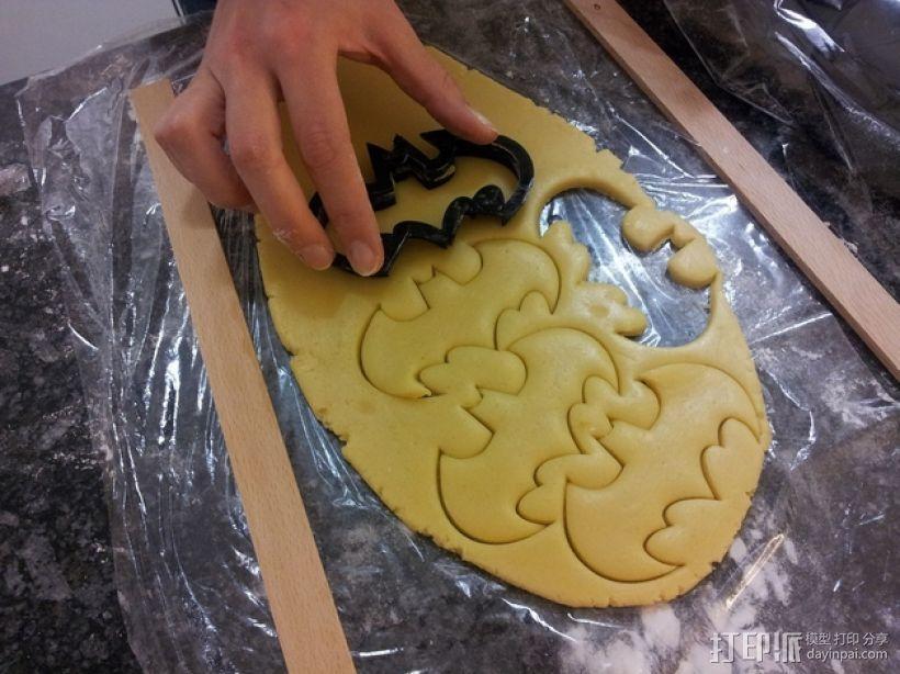 蝙蝠形饼干切割刀模型 3D打印模型渲染图