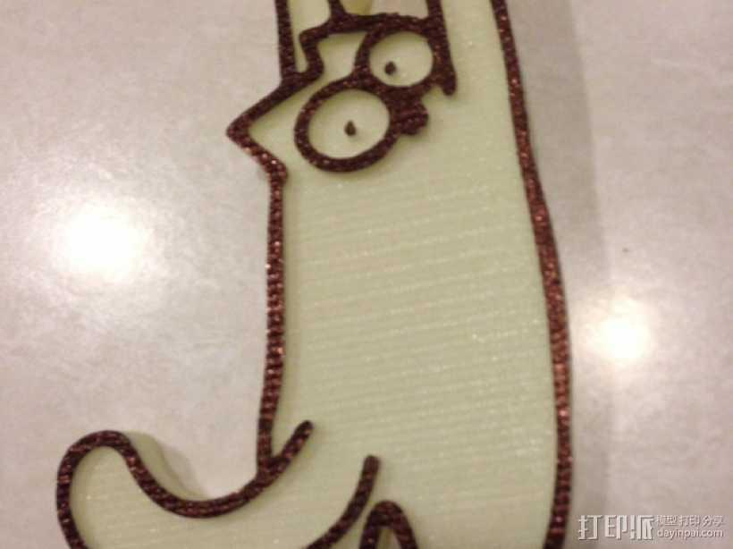迷你猫形门吸模型 3D打印模型渲染图