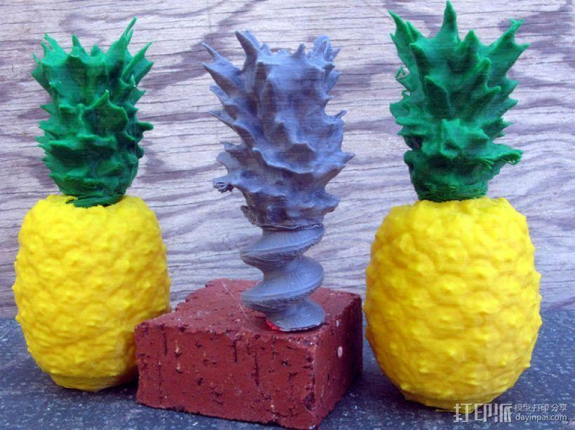 迷你菠萝模型 3D打印模型渲染图
