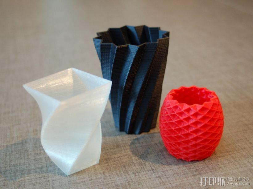 花盆/花瓶/笔筒/酒杯模型 3D打印模型渲染图