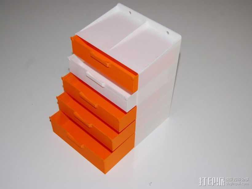 迷你抽屉/橱柜模型 3D打印模型渲染图
