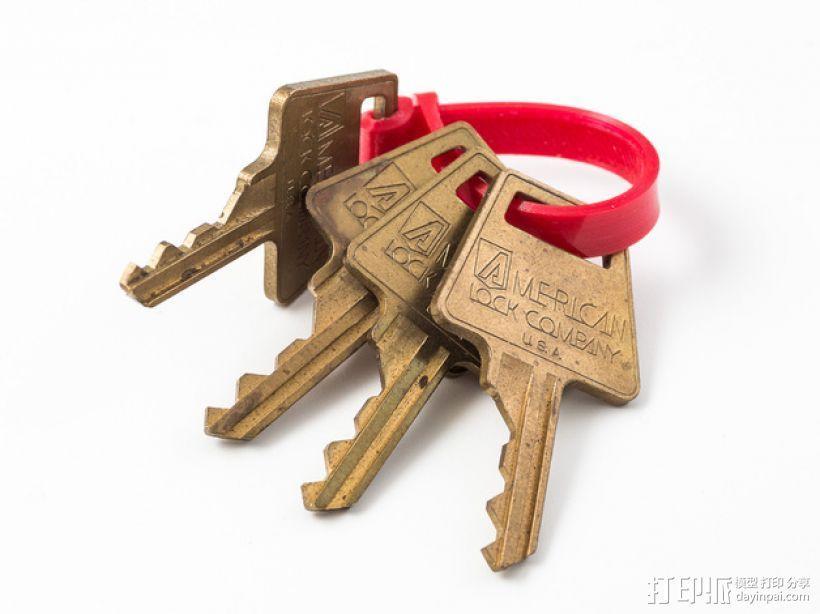 迷你钥匙圈模型 3D打印模型渲染图