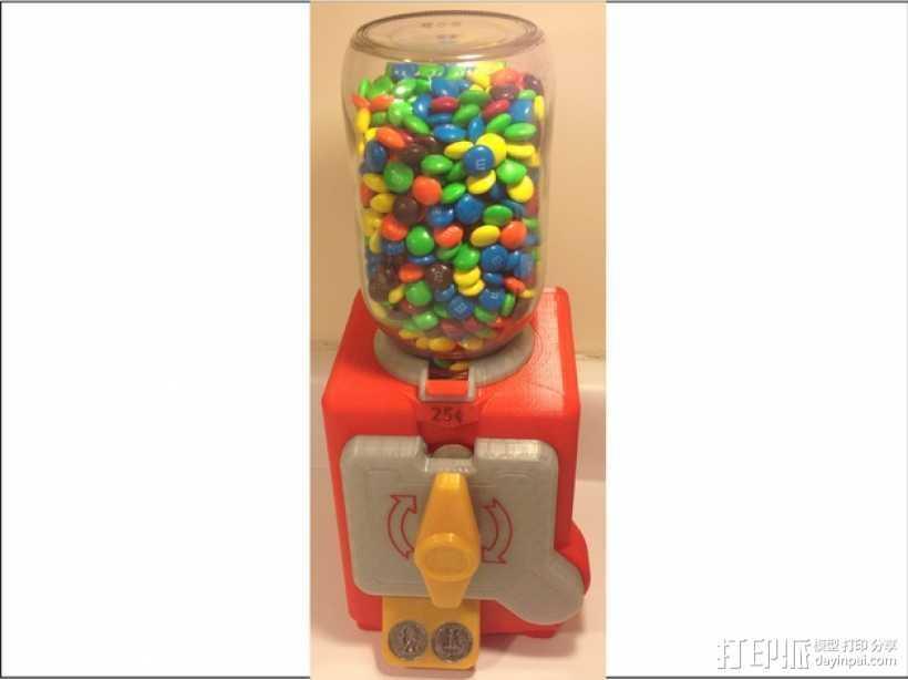 糖果贩卖机模型 3D打印模型渲染图