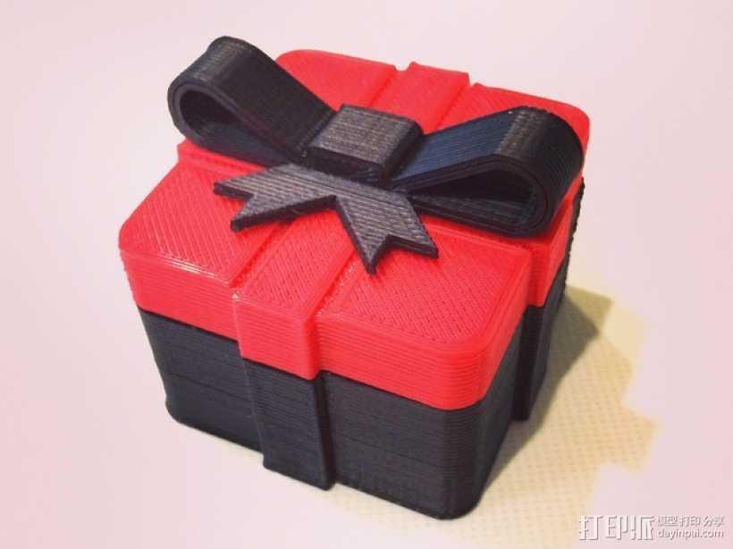 迷你礼物盒模型 3D打印模型渲染图