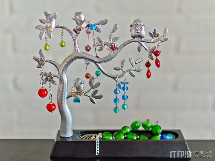 珠宝首饰树模型 3D打印模型渲染图