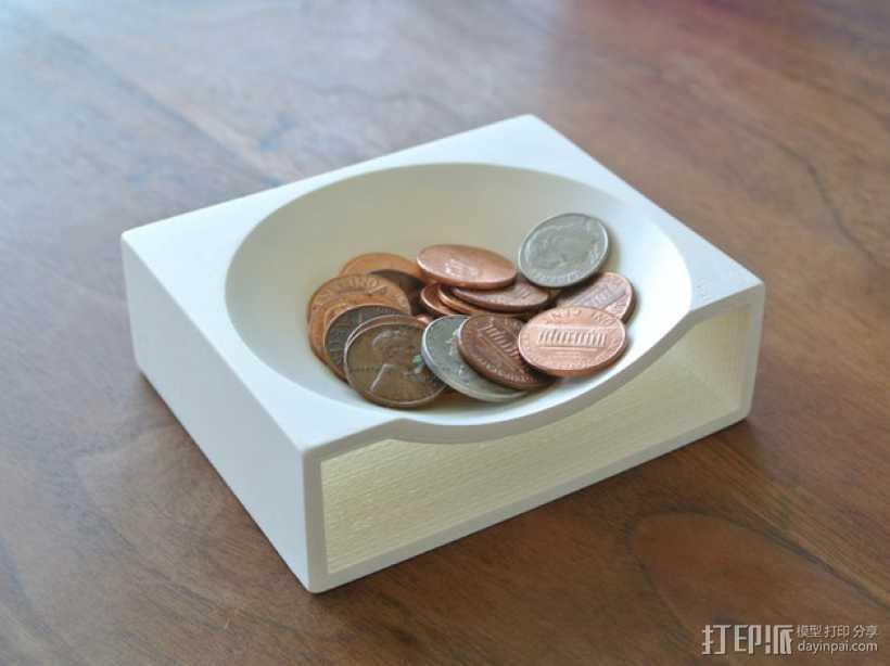 硬币托盘模型 3D打印模型渲染图