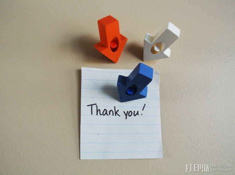 箭头形图钉模型 3D打印模型渲染图