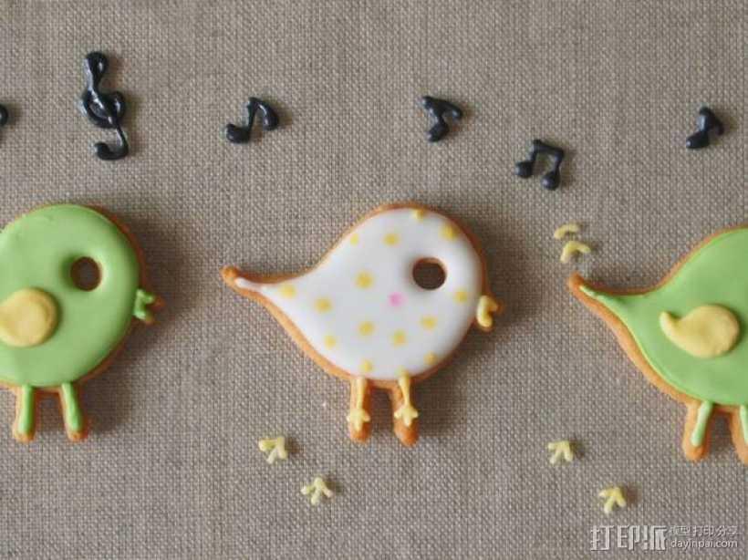 小鸟形饼干制作切割刀 3D打印模型渲染图