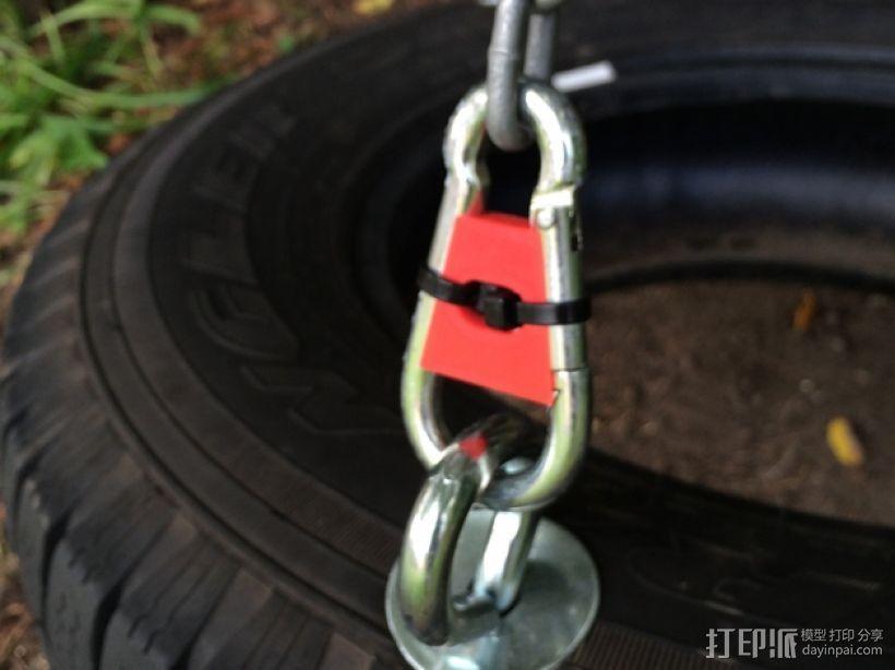 秋千:竖钩锁 3D打印模型渲染图