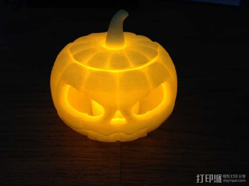 迷你南瓜灯/茶灯 3D打印模型渲染图