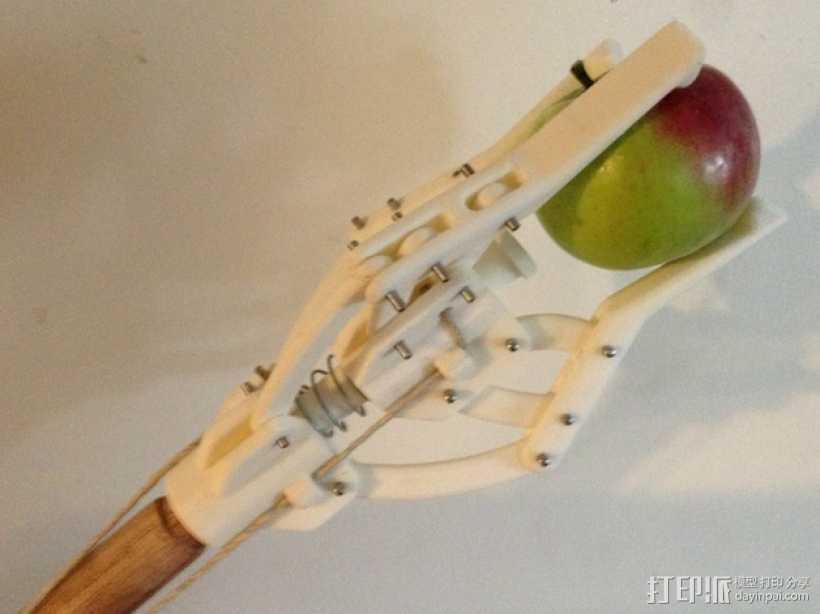 爪形苹果采摘机 3D打印模型渲染图