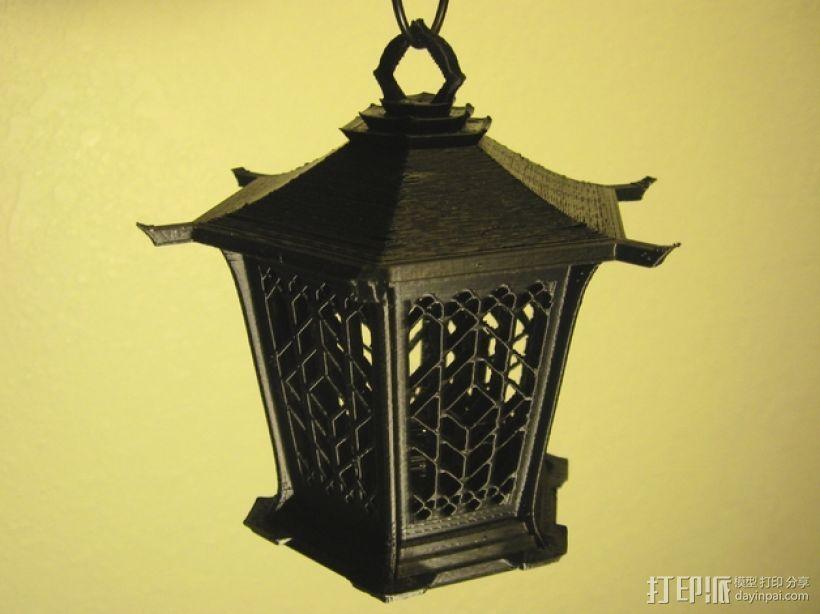 古典传统灯笼 3D打印模型渲染图