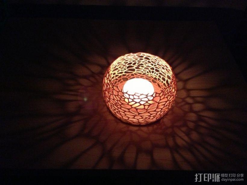 镂空蜡烛固定装置 3D打印模型渲染图