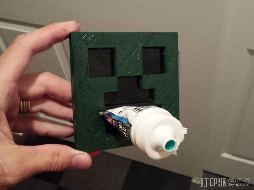 爬行者牙膏挤出装置 3D打印模型渲染图
