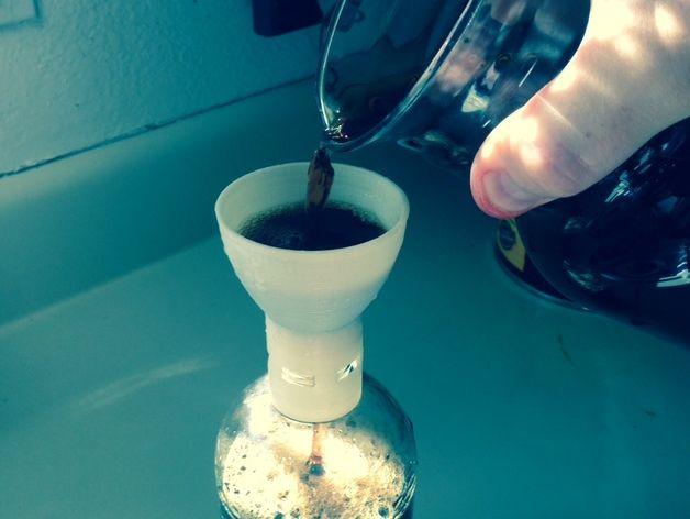 水滴咖啡漏斗 3D打印模型渲染图