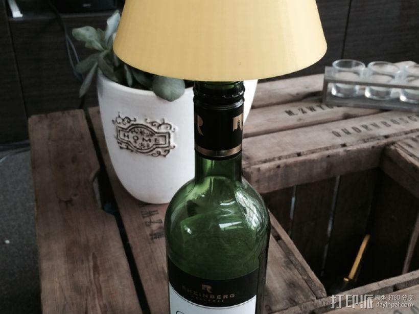 酒瓶灯罩 3D打印模型渲染图