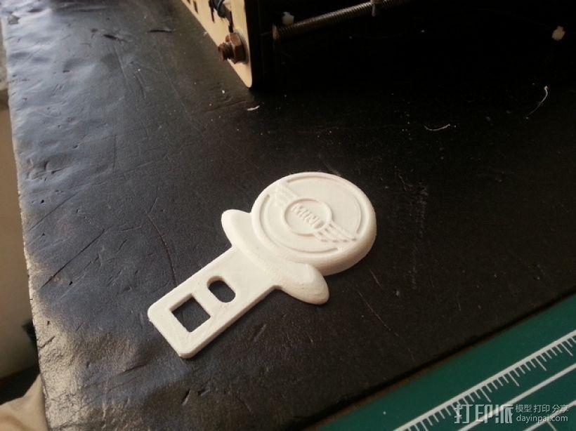 迷你库帕车安全带扣锁 3D打印模型渲染图