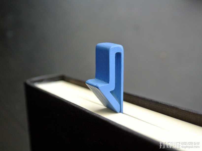 箭头形书签#1 3D打印模型渲染图