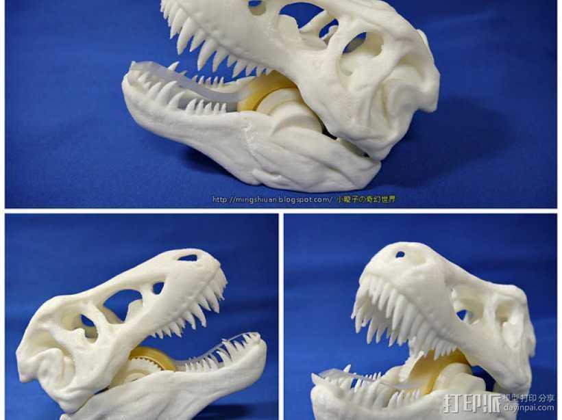 恐龙形胶带分割器 3D打印模型渲染图