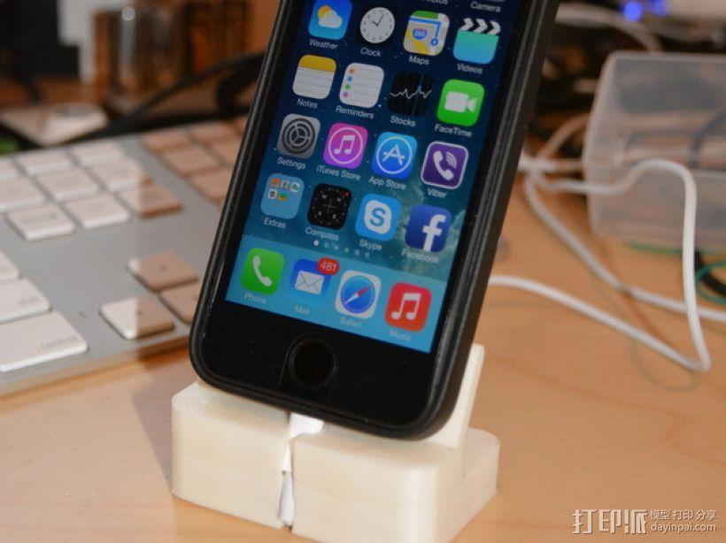 iPhone 5S充电底座 3D打印模型渲染图
