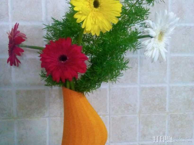 迷你简易橙色花瓶 3D打印模型渲染图