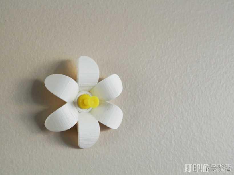 花形图钉#1 3D打印模型渲染图