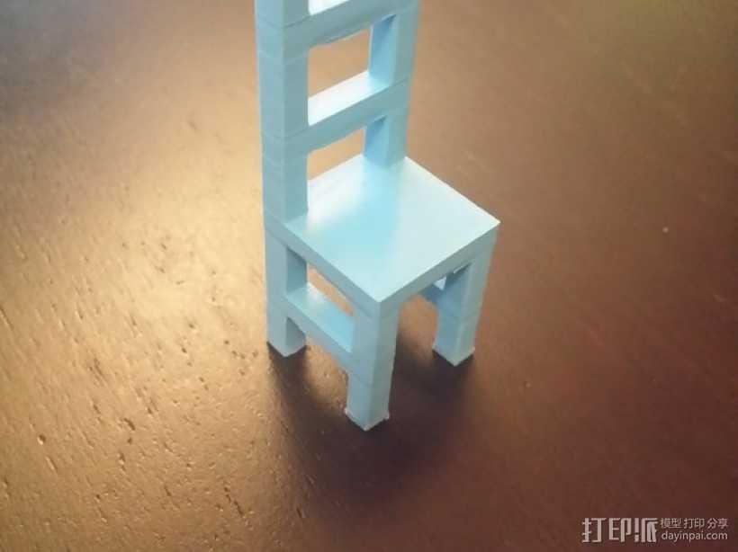 迷你小椅子 3D打印模型渲染图