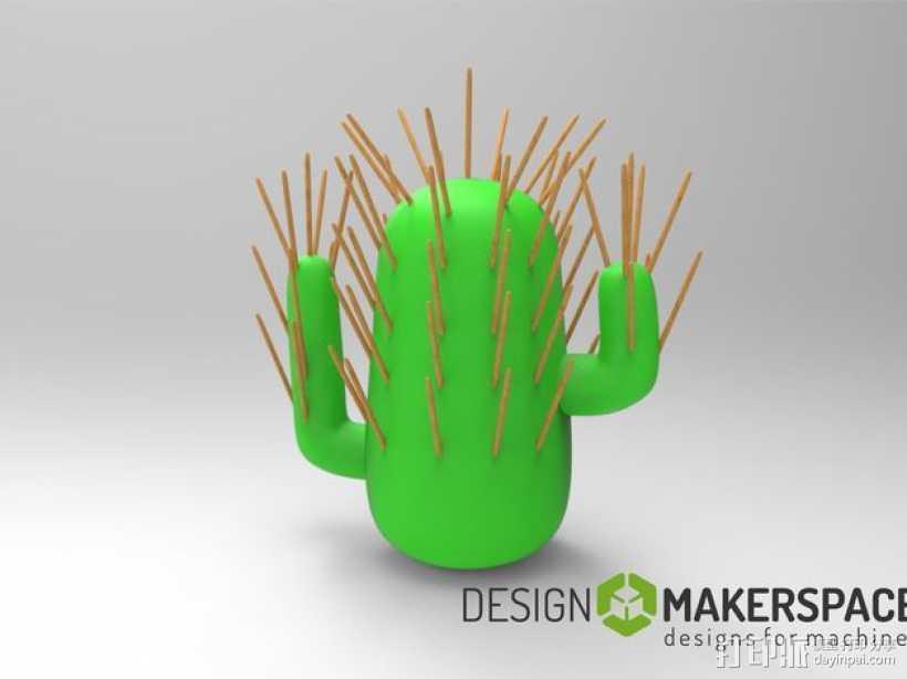 仙人掌牙签架 3D打印模型渲染图