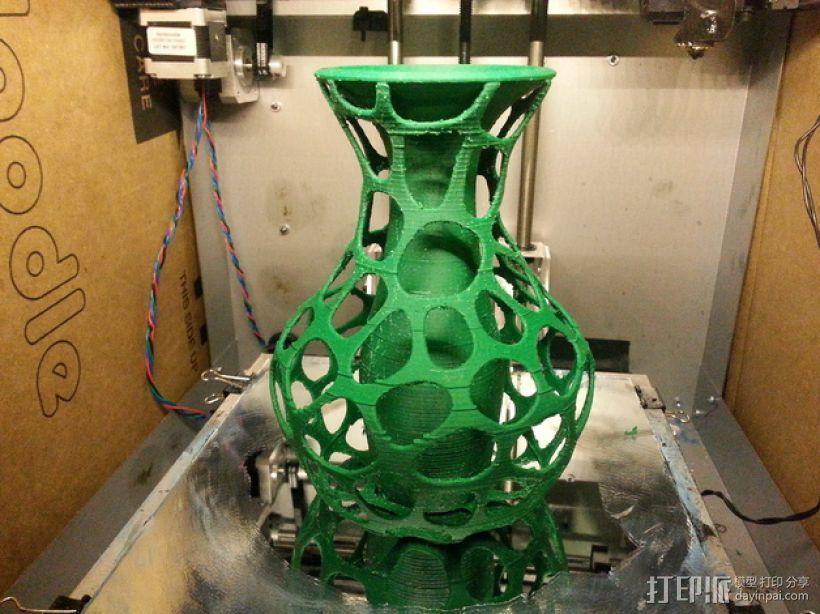 混合双层花瓶 3D打印模型渲染图