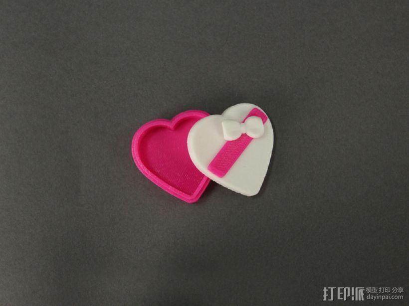 心形糖果礼物盒 3D打印模型渲染图