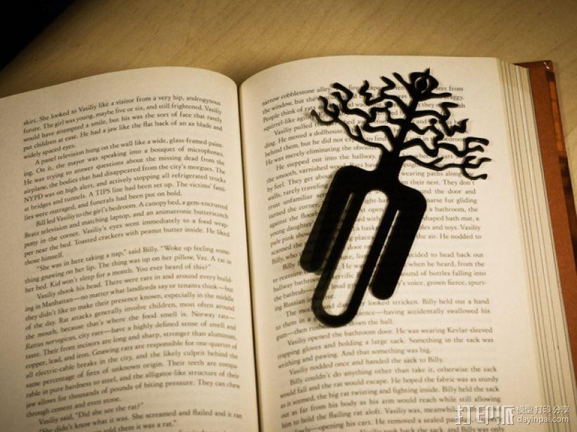 树的起源 -- 书签 3D打印模型渲染图